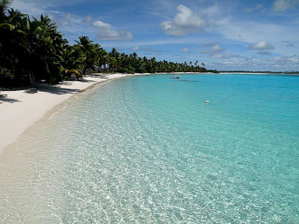 Beautiful beach at Cocos Island