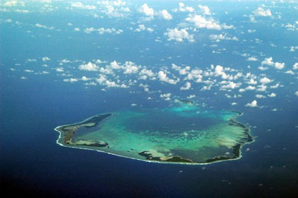 Aerial view of Cocos Keeling Islands