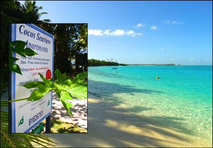 Cocos Seaview Apartments signage